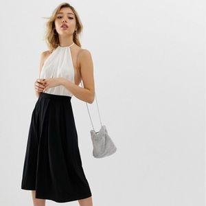 ASOS Pleated Midi Skirt, Size 4, NWT